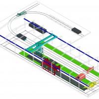 配备可移动设备的固定模台生产线